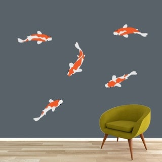 Koi Fish Printed Wall Decal Set