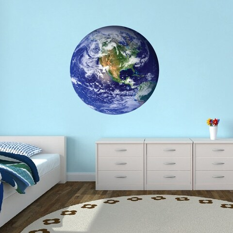 Earth Printed Wall Decal
