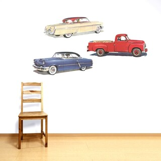 Old Cars Wall Decal Pack