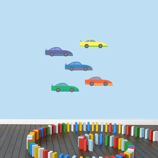 Race Cars Printed Wall Decal Set (3 options available)