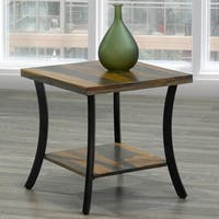 Surin-Solid wood/Iron Accent Table