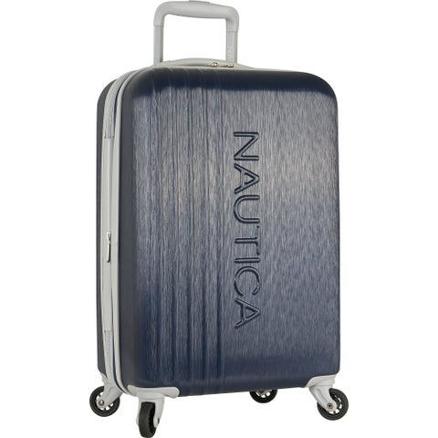 """Nautica Lifeboat 20-inch Expandable Carry On Hardside Spinner Suitcase - 20"""""""