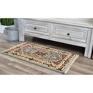 "Ovalle Ciro Sky Blue Transitional Bohemian Area Rug - 2'0""x3'0"""
