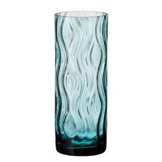 "Crystalite Bohemia Optic Rhythm Cylinder Vase 10.25"""