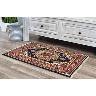 """Ovalle Che Midnight Blue Transitional Bohemian Area Rug - 2'0""""x3'0"""""""