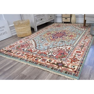 Ovalle Ciro Sky Blue Transitional Area Rug - 6'x9'