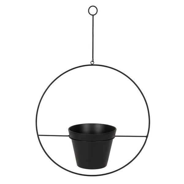 Kate and Laurel Opyd Circular Plant Holder and Pot