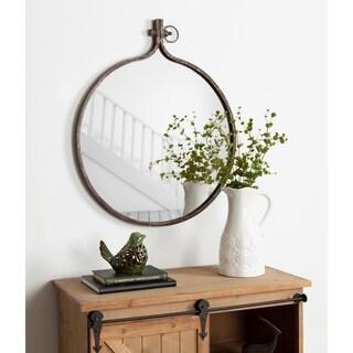 Kate and Laurel Yitro Round Wall Mirror - Bronze