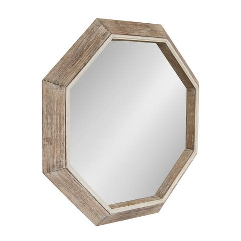 Kate and Laurel Yves Octagon Wall Mirror - Natural - 30x30