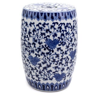 Blue Garden Decorative Lotus Stool