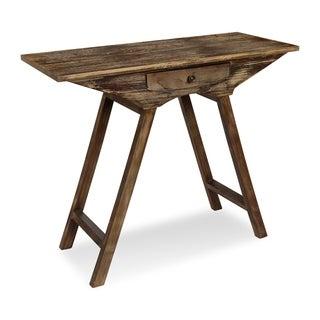Kate and Laurel Yasu Wood Console Table with Drawer