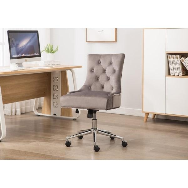 Outstanding Shop Porthos Home Office Desk Chair Deluxe Velvet Download Free Architecture Designs Scobabritishbridgeorg