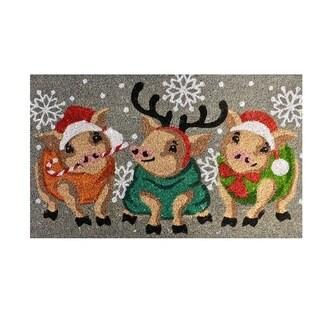 "Unbelievable Mats 18""x30"" Three Little Pigs Holiday Door Mat"