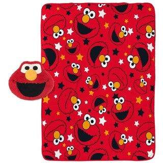 Sesame Street Elmo Travel Throw and Face Pillow