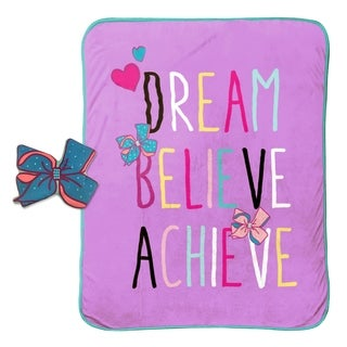 "Nickelodeon JoJo Siwa Dream Believe Travel Throw and 10"" Pillow Set"