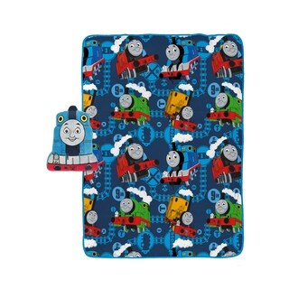 Thomas The Tank Engine No. 1 Team Travel Throw and Face Pillow