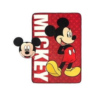 Disney Mickey Mouse Classic Nogginz and Blanket Set