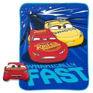 "Disney Cars Built For Speed Lightning McQueen Nogginz and 62"" x 90"" Blanket Set"