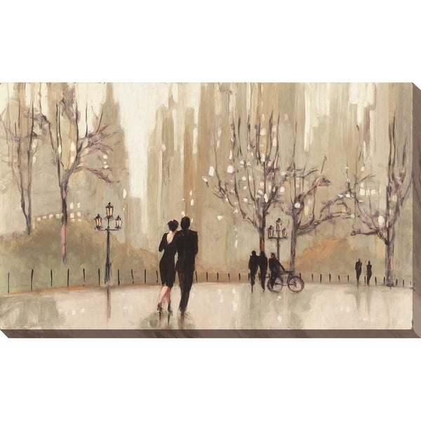 """An Evening Out Neutral"" by Julia Purinton Print on Canvas"