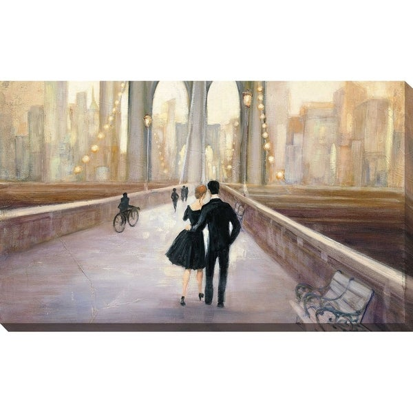 """Bridge to NY IV"" by Julia Purinton Print on Canvas"