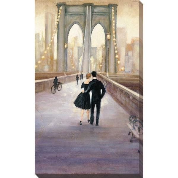 """""""Bridge to NY V"""" by Julia Purinton Print on Canvas"""