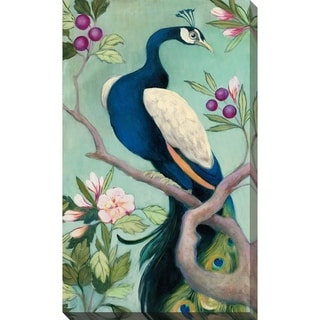 """Pretty Peacock I"" by Julia Purinton Print on Canvas"