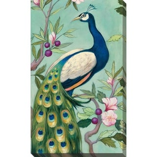 """Pretty Peacock II"" by Julia Purinton Print on Canvas"