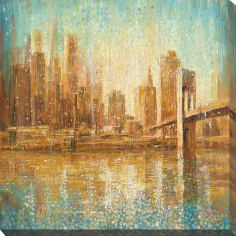 """Champagne City"" Print on Canvas"