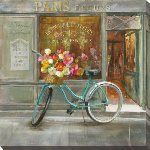 """""""French Flowershop"""" Print on Canvas"""