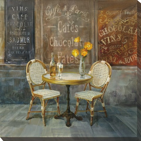 """French Cafe"" Print on Canvas"