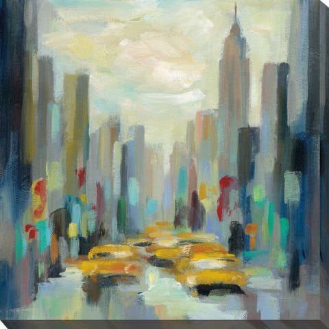 """Manhattan Sketches II"" by Silvia Vassileva Print on Canvas"