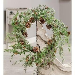 "Icy Stowe Cedar Wreath, 24"""