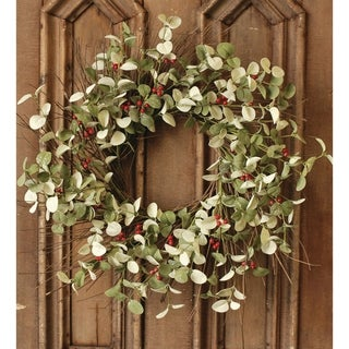 "Link to Winter Silver Dollar Wreath, 24"" Similar Items in Decorative Accessories"