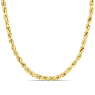 Miadora 14k Solid Yellow Gold 16 Inch Rope Chain Necklace