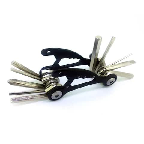 ALEKO Steel Multi-Functional Bicycle Tool 1.5 x 3 inches Black