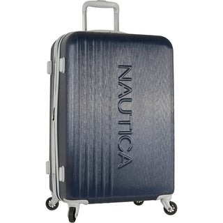 Nautica Lifeboat 24-inch expandable hardside spinner carryon suitcase