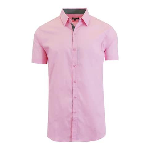 Galaxy by Harvic Men's Short Sleeve Slim Fit Dress Shirts