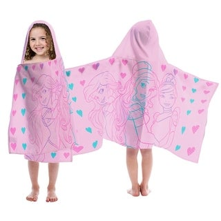 Disney Princess Hearts Hooded Towel