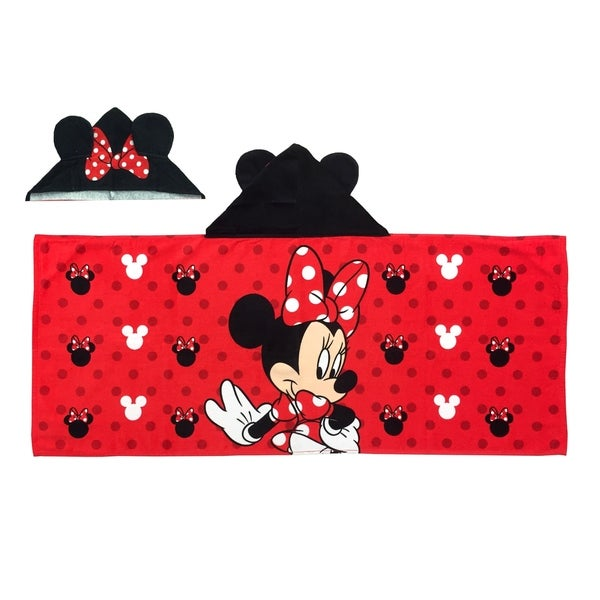 002edcd3391 Shop Disney Minnie Mouse Hooded Towel - Free Shipping On Orders Over  45 -  Overstock - 22175578