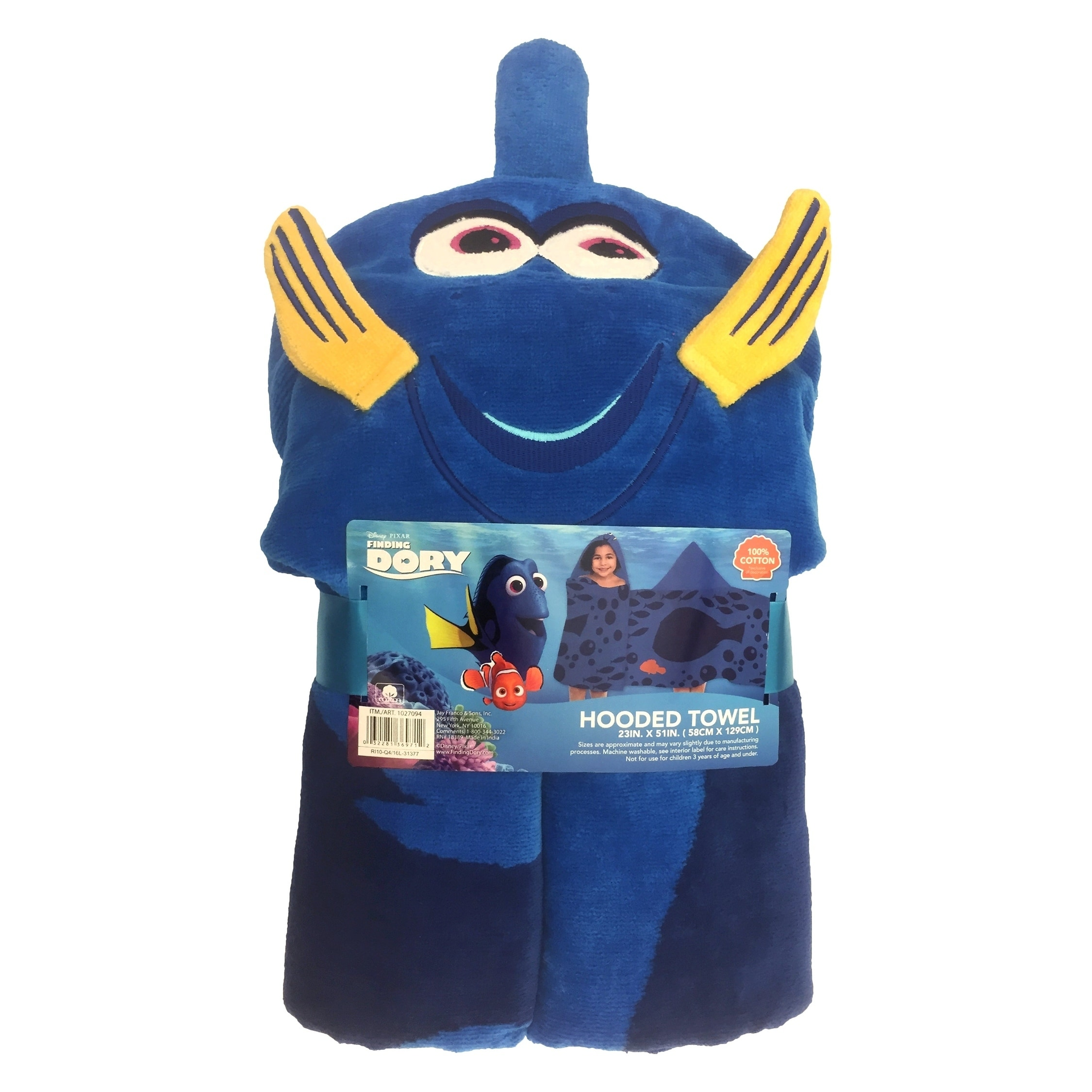 Disney Pixar Finding Dory Childrens Baby Toddler Hooded Poncho Towel