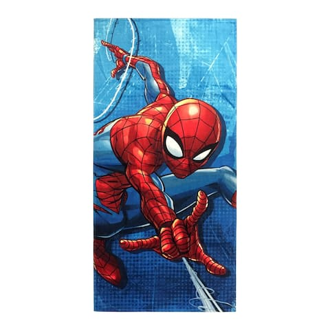 Marvel Spiderman Blue City Beach Towel