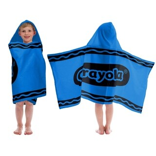 CrayolaBlue Cotton Hooded Towel