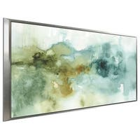 """My Greenhouse Abstract I no Gold"" by Lisa Audit Print on Canvas in Floating Frame"
