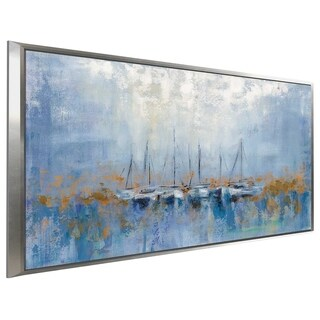 """""""Boats in the Harbor I"""" by Silvia Vassileva Print on Canvas in Floating Frame"""