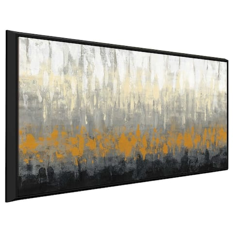 """Rain on the Asphalt IV"" by Silvia Vassileva Print on Canvas in Floating Frame"
