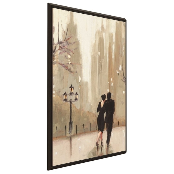 """An Evening Out Neutral II"" by Julia Purinton Print on Canvas in Floating Frame"