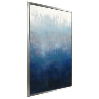 """Silver Wave I"" by Silvia Vassileva Print on Canvas in Floating Frame"