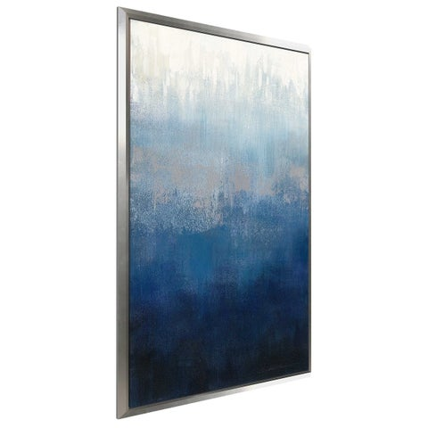 """Silver Wave II"" by Silvia Vassileva Print on Canvas in Floating Frame"