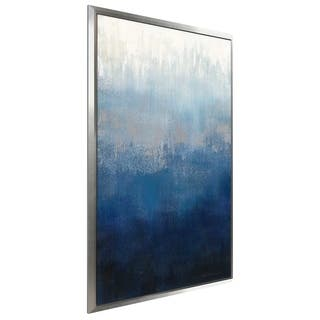 """""""Silver Wave II"""" by Silvia Vassileva Print on Canvas in Floating Frame"""