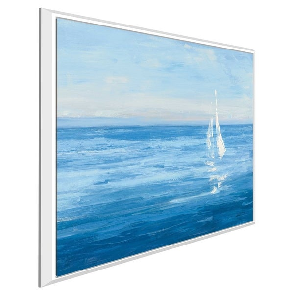 """""""Open Sail with Turquoise I"""" by Julia Purinton Print on Canvas in Floating Frame"""